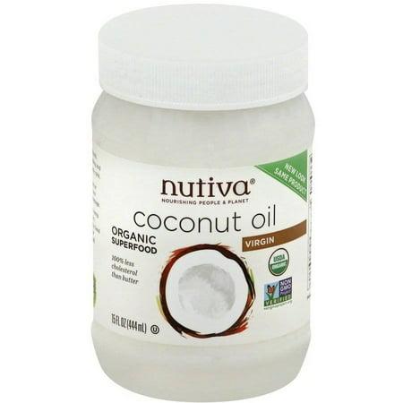 Nutiva Organic Extra Virgin Coconut Oil, 15 fl oz