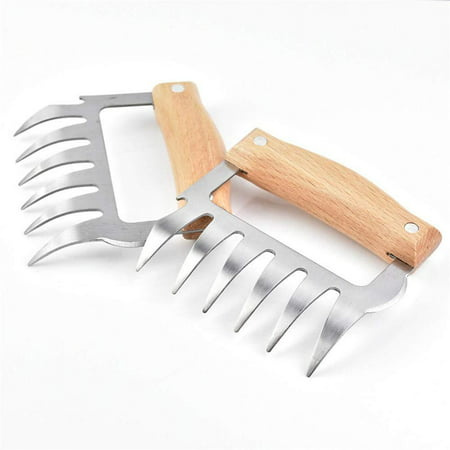 Halloween Cooking Bbc (Stainless Steel Meat-Shredding Claws with Bottle Opener and Blade - Pulled Pork BBQ Shredded Chicken Cooking Tool Gadget Utencil Summer Meat Shredder Claws Meat)
