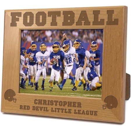 Football Personalized Wood Picture Frame - Walmart.com
