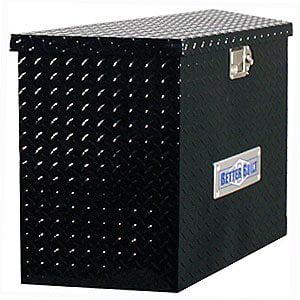 BETTER BUILT 66212323 UTILITY TRAILER TONGUE TOOL BOX, BLACK, TALL, V (Best Built Utility Trailers)