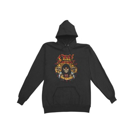 Ozzy Osbourne Men's  You Can't Kill Rock & Roll Grim Reaper Hooded Sweatshirt - Hooded Reaper
