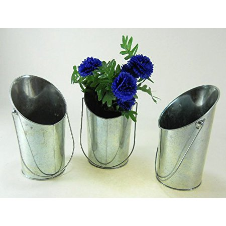 Wall Lineman Bucket (Wall Pail Hanging Pots Galvanized Buckets with Handle set of 3 )