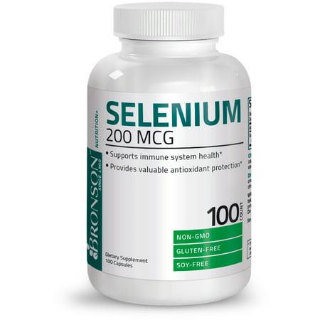 Bronson Selenium 200 mcg, 100 Capsules