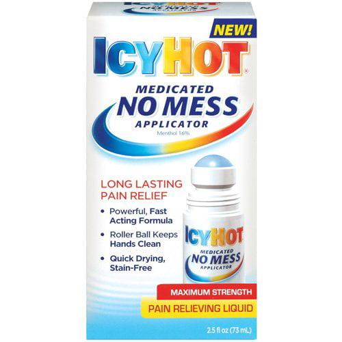 Icy Hot Medicated No Mess Applicator Maximum Strength Pain Relieving Liquid - 2.5 fl oz