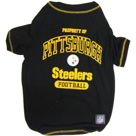 - NFL PITTSBURGH STEELERS Dog T-Shirt, Large, ✔ NFL TEE SHIRT: - FOR THE FOUR-LEGGED FAN - Love your dog? Love football? This dog dress with your favorite Sports.., By Pets First