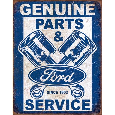Ford Service - Pistons Tin Sign - 12.5x16