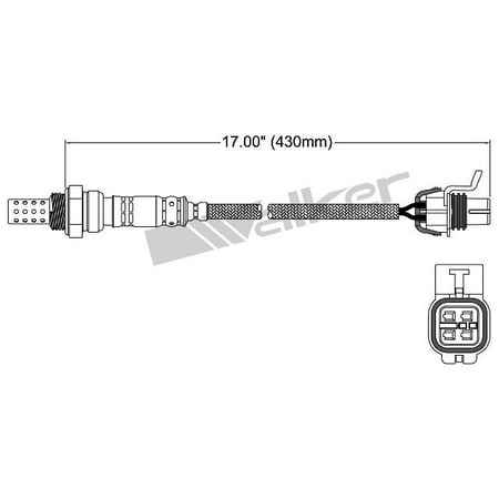 OE Replacement for 2008-2009 Buick LaCrosse Downstream Oxygen Sensor (Super) Buick Super Oxygen Sensor