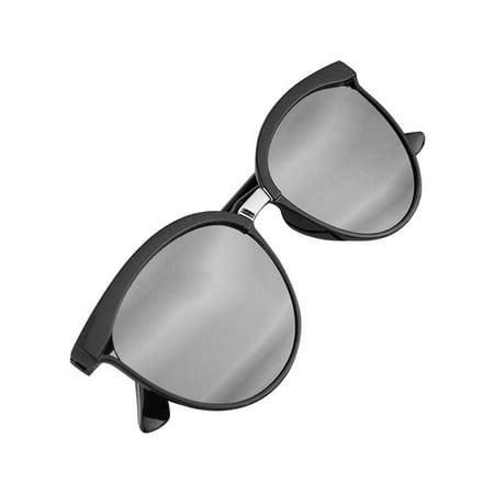 JVOGGY Women Cat Eye Vintage Mirrored Reflective Lenses -