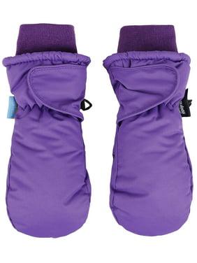 SimpliKids Children's Snow Sports 3M Thinsulate Waterproof Winter Mittens Gloves,S,Purple