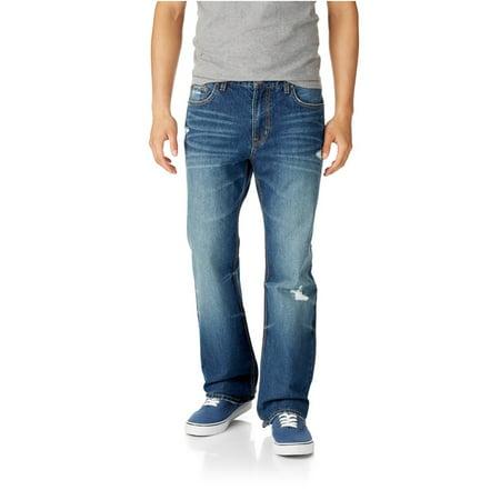 0831f68c073 Aeropostale - Aeropostale Mens Driggs Slim Boot Cut Jeans 962 27X28 -  Walmart.com