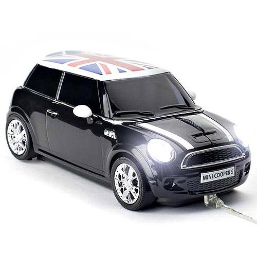 Click Car Mini Cooper S Wireless Optical Mouse (Astro Black)