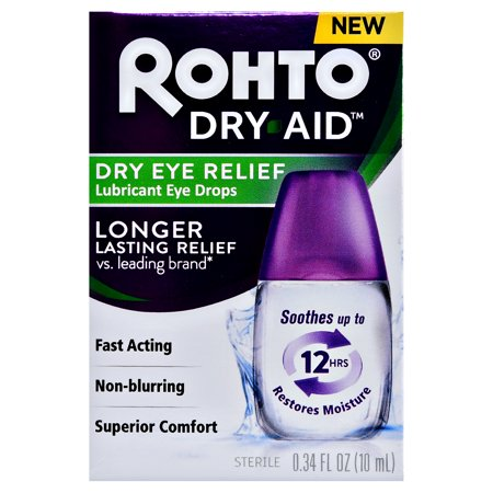 Rohto Dry Aid Dry Eye Relief Lubricant Eye Drops, .34