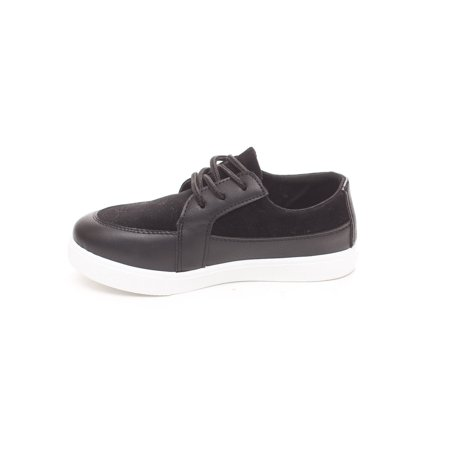 Soho Shoes Boys Casual Lace Up Suede Loafer Sneaker Brown Kid Suede Pumps