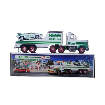 1991 Toy Truck with Racer, Real head and tail lights By Hess From -