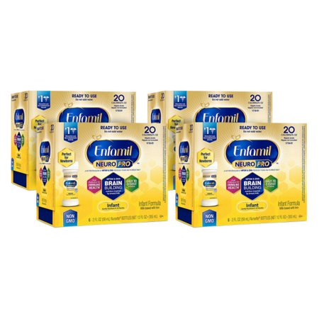 Enfamil NeuroPro Infant Formula - Brain Building Nutrition Inspired by Breast Milk - Ready to Use Liquid Nursette Bottles, 2 fl oz, (24 Bottles)