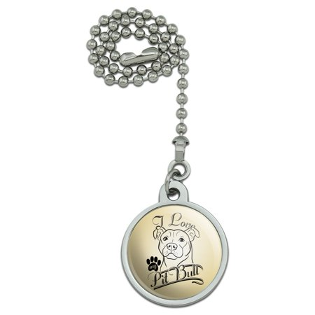 I Love My Pit Bull Ceiling Fan and Light Pull Chain