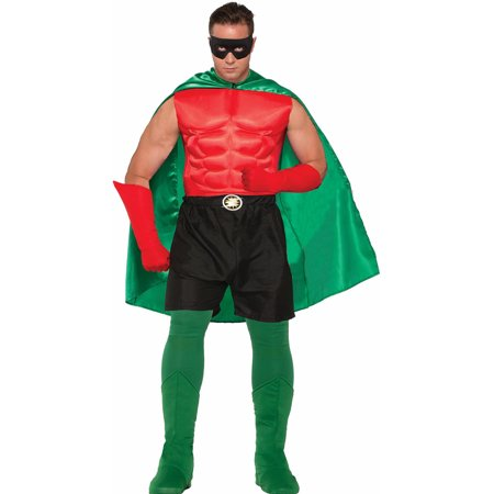 Adult Size Be Your Own Superhero Boxer Shorts Black Halloween Costume Accessory