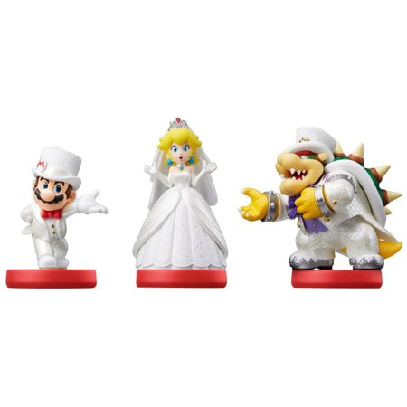 Image of Wedding Party 3-Pack Super Mario Odyssey Series amiibo (Universal)