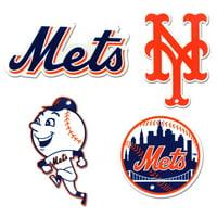 New York Mets 4-Pack Steel Magnet Set