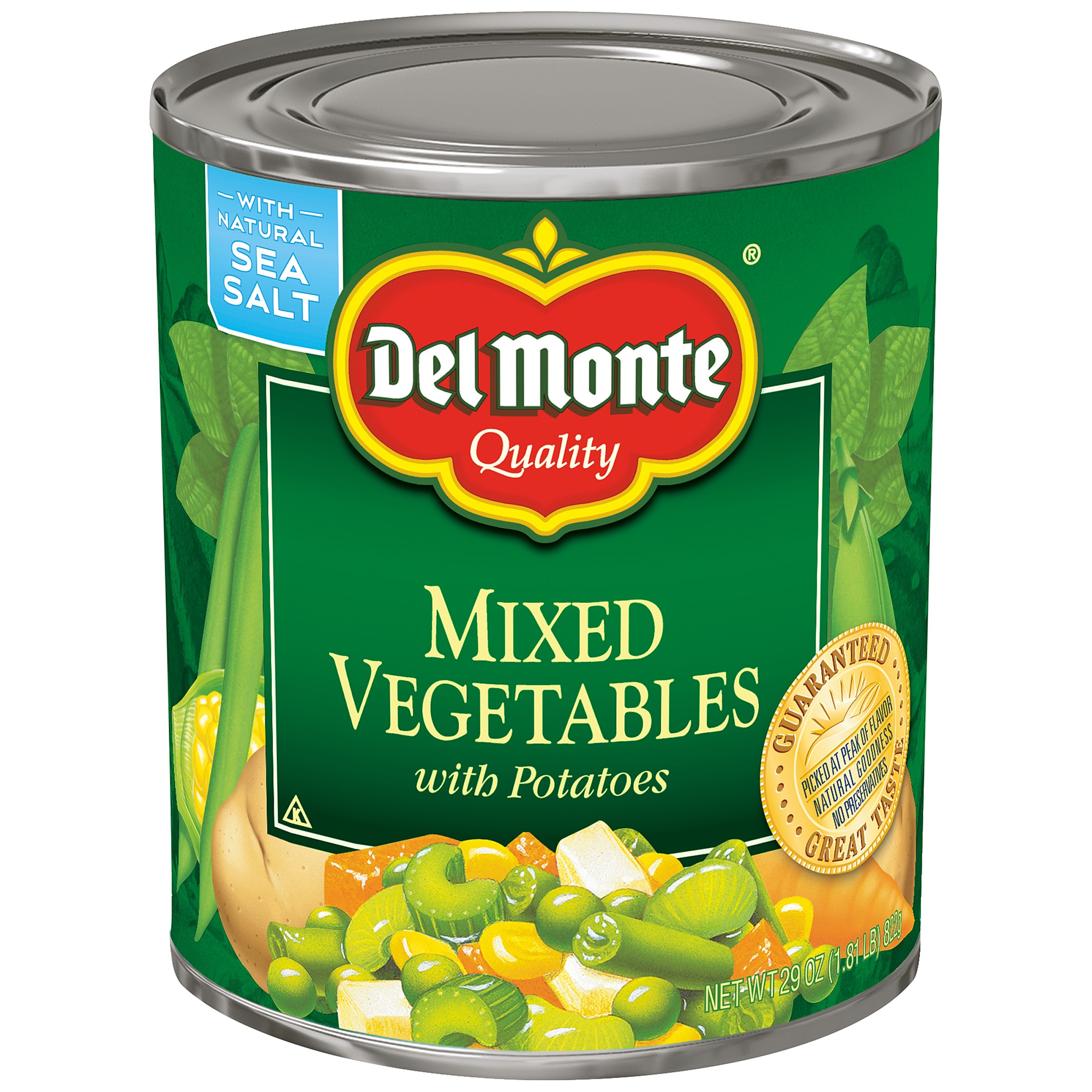 Del Monte Mixed Vegetables With Potatoes, 29 Oz