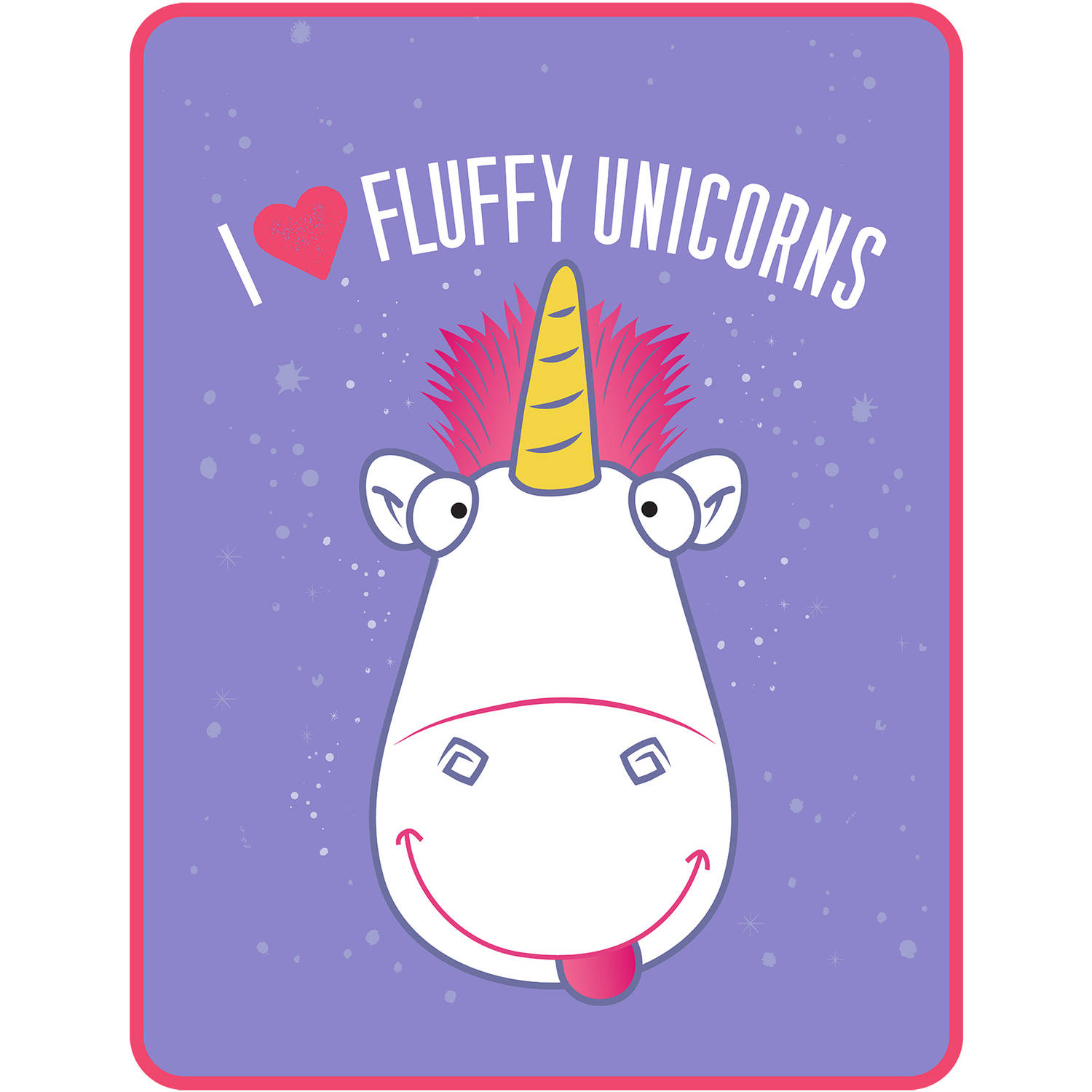 Despicable Me Minions Fluffy the Unicorn I Heart Fluffy Kids Throw