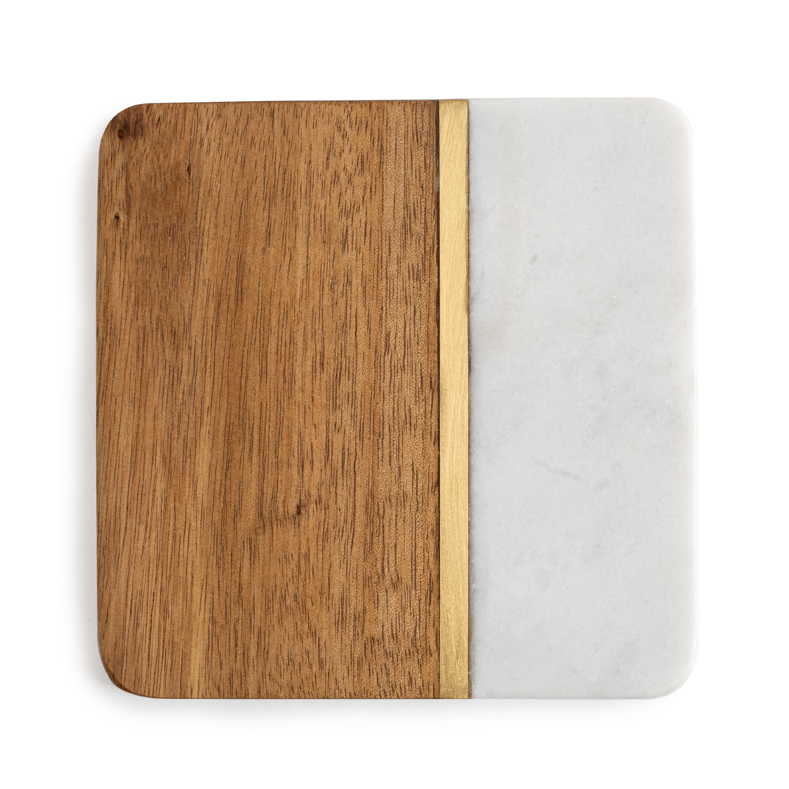 Better Homes & Gardens Coaster, Acacia Wood and Marble
