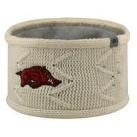 Arkansas Razorbacks Top of the World Women's Fleece Lined Headband - Cream - OSFA
