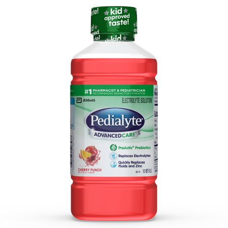 (4 pack) Pedialyte AdvancedCare Electrolyte Solution with PreActiv Prebiotics, Hydration Drink, Cherry Punch, 1 Liter](Alcoholic Halloween Punch Drinks)