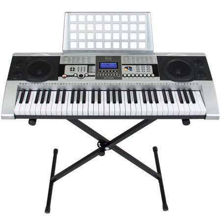 electronic piano keyboard 61 key music key board piano with x stand heavy duty. Black Bedroom Furniture Sets. Home Design Ideas