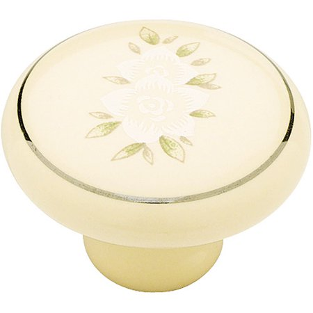Flower Ceramic Insert Knob (Liberty 1-1/2