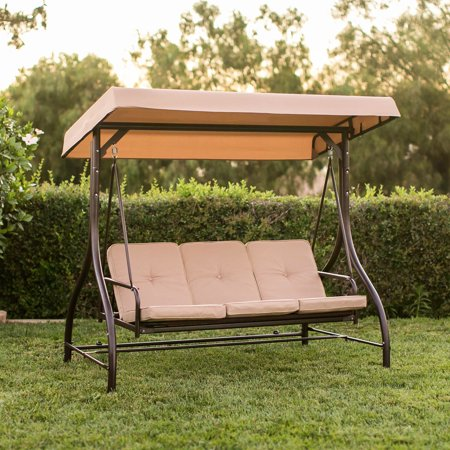 Converting Outdoor Swing Canopy Hammock Seats 3 Patio Deck Furniture Tan - Converting Outdoor Swing Canopy Hammock Seats 3 Patio Deck