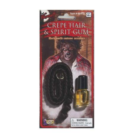 Werewolf Crepe Hair & Spirit Gum Set Costume Accessory