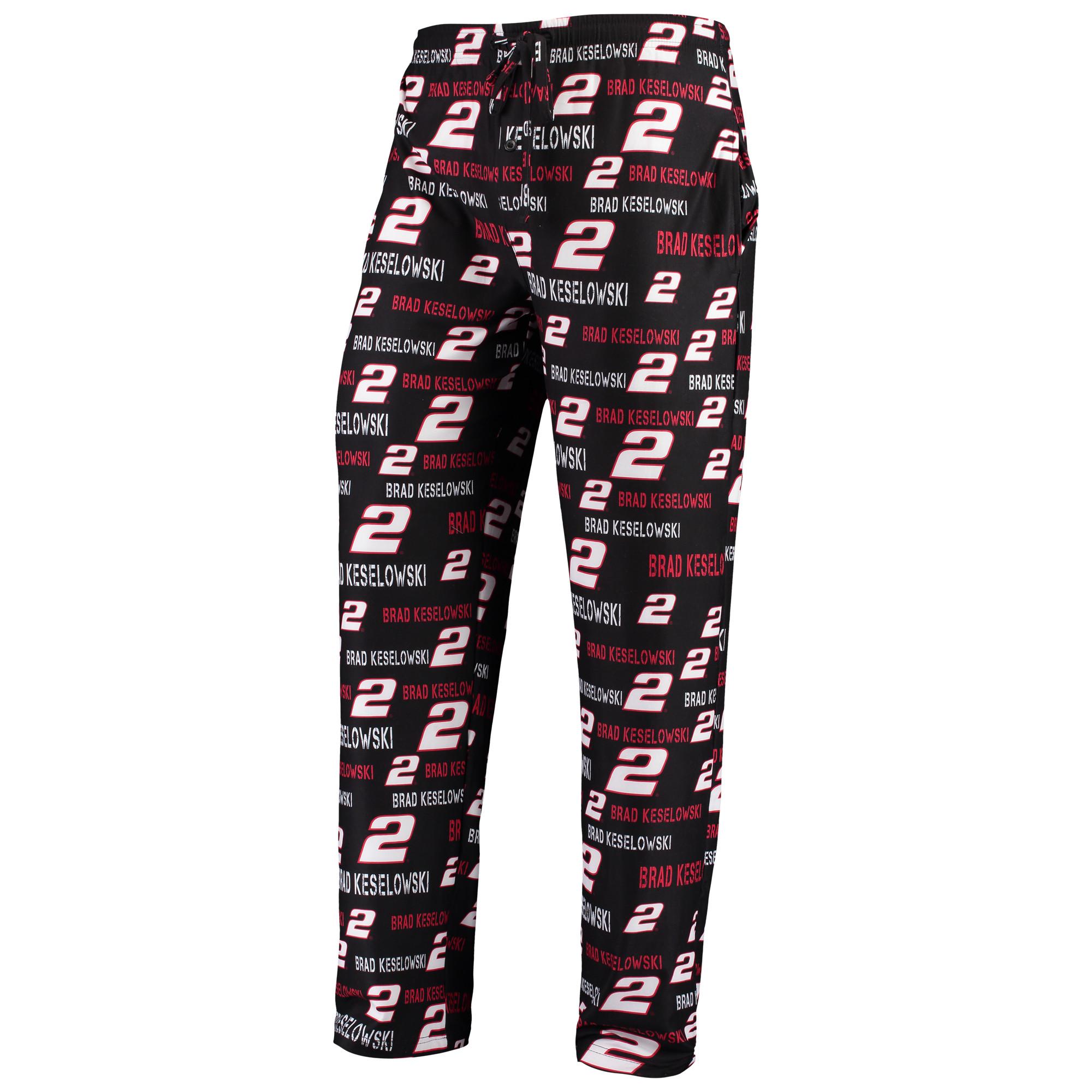 Brad Keselowski Concepts Sport Men's Midfield Sleep Pants - Black