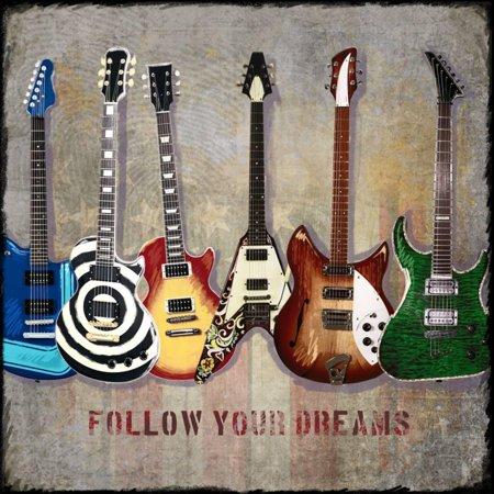 - Guitar Line Up Electric Metal Rock Music Print Wall Art By Jim Baldwin