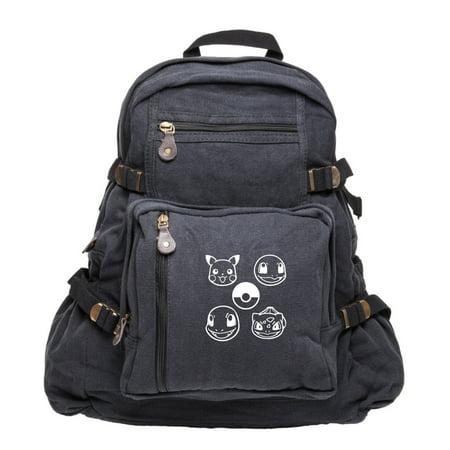 Pokeball Pokemon Sport Heavyweight Canvas Backpack