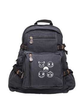 Pokeball Pokemon Sport Heavyweight Canvas Backpack Bag