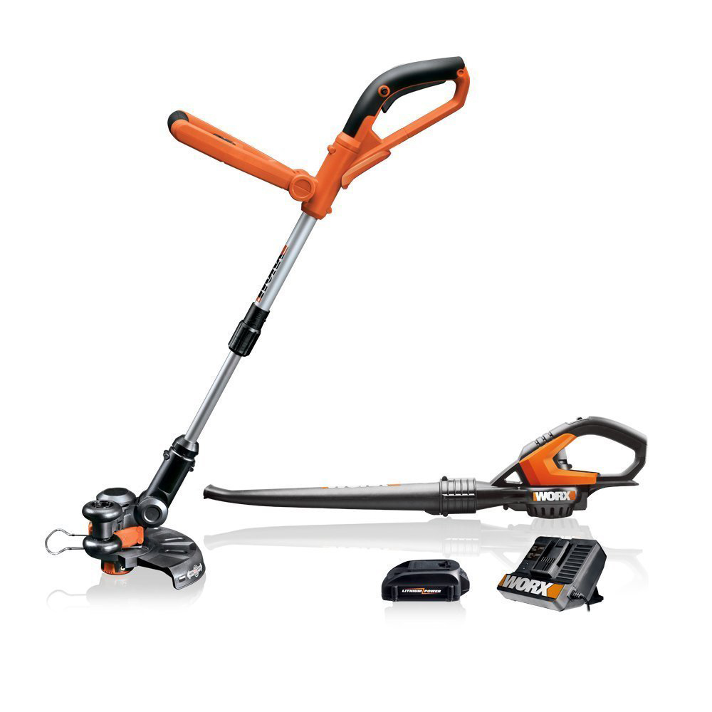 Worx WG918 20-Volt 1.5-Amp MaxLithium 2-Piece Cordless Power Equipment Combo Kit