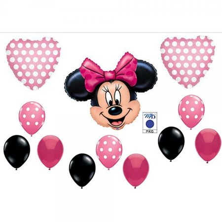 PINK MINNIE MOUSE BIRTHDAY PARTY Balloons Decorations Supplies by Anagram (Minnie Mouse Birthday Decorations)