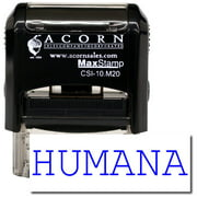 Self-Inking Humana Stamp with Orange Ink