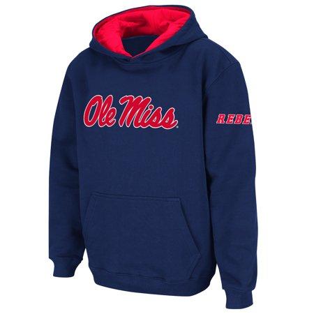 Ole Miss Fleece (Ole Miss Rebels Stadium Athletic Youth Big Logo Pullover Hoodie - Navy)