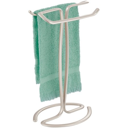 Better Homes & Gardens Satin Countertop Hand Towel Holder, Satin (Bath Countertop Accessories)