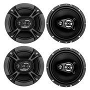 """4) Soundstorm SSL EX365 6.5"""" 300W 3-Way Car Coaxial Audio Black Speakers Pair"""