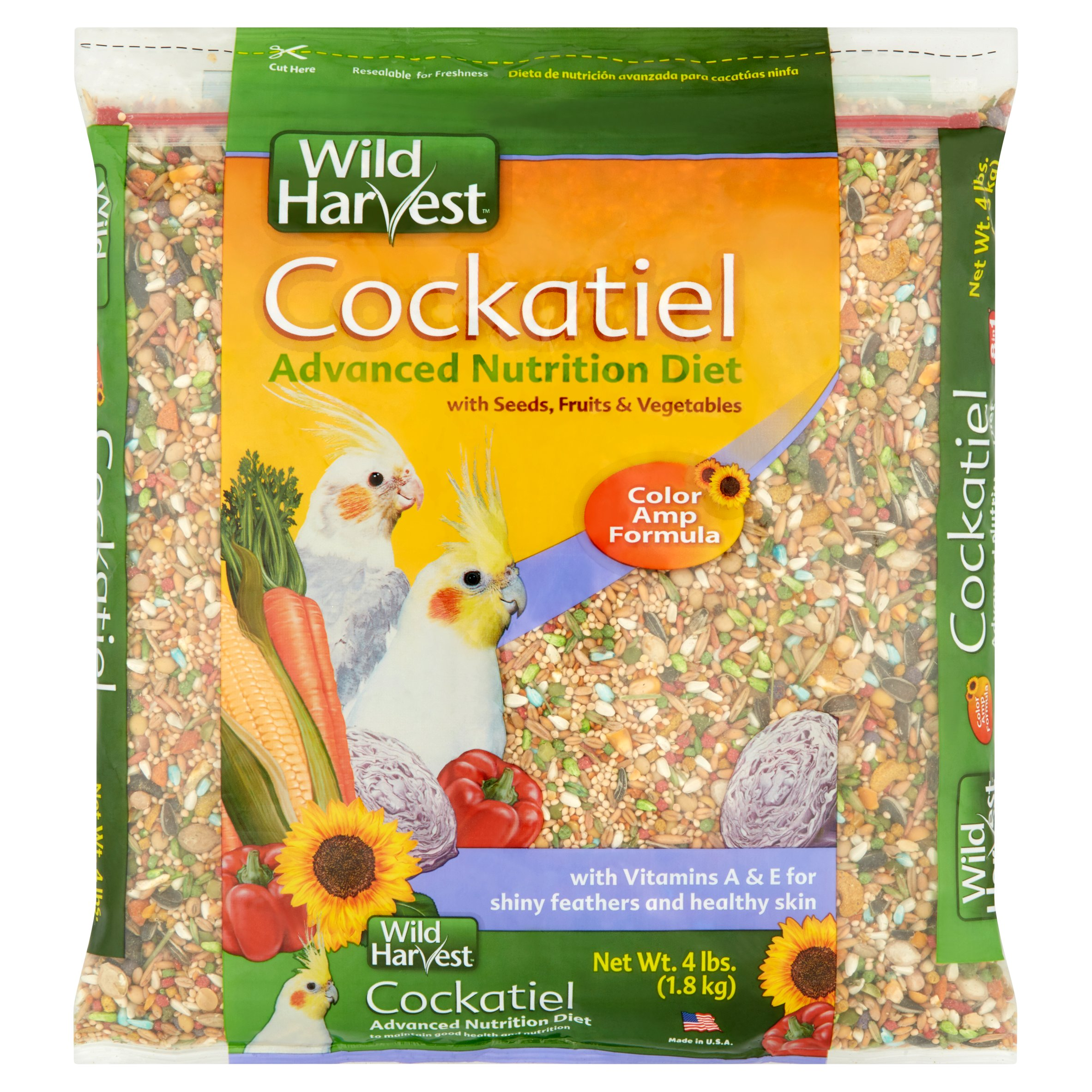 Wild Harvest Cockatiel Advanced Nutrition Diet Blend, 4 lb