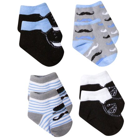 Baby Essentials Mustache Tassel Loafer Boat Shoes Dress Socks Baby Gift 4 Pack 0-6M - Best Baby Socks - Favorite Unique Newborn Cute Baby Shower Gift Idea](Toga Dress Ideas)