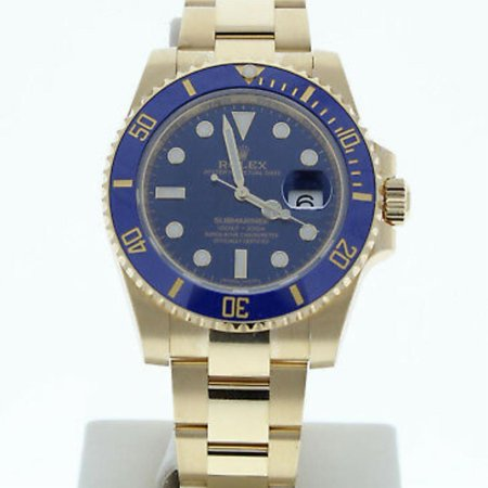 Pre-Owned Rolex Submariner 116618 Gold  Watch (Certified Authentic & Warranty)