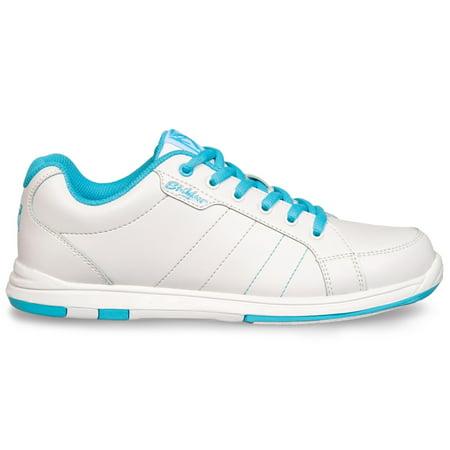 Strikeforce Ladies Satin Bowling Shoes- White/Aqua