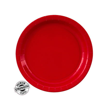 Dessert Plate - Red (24 Count)](Red Minnie Mouse Plates)