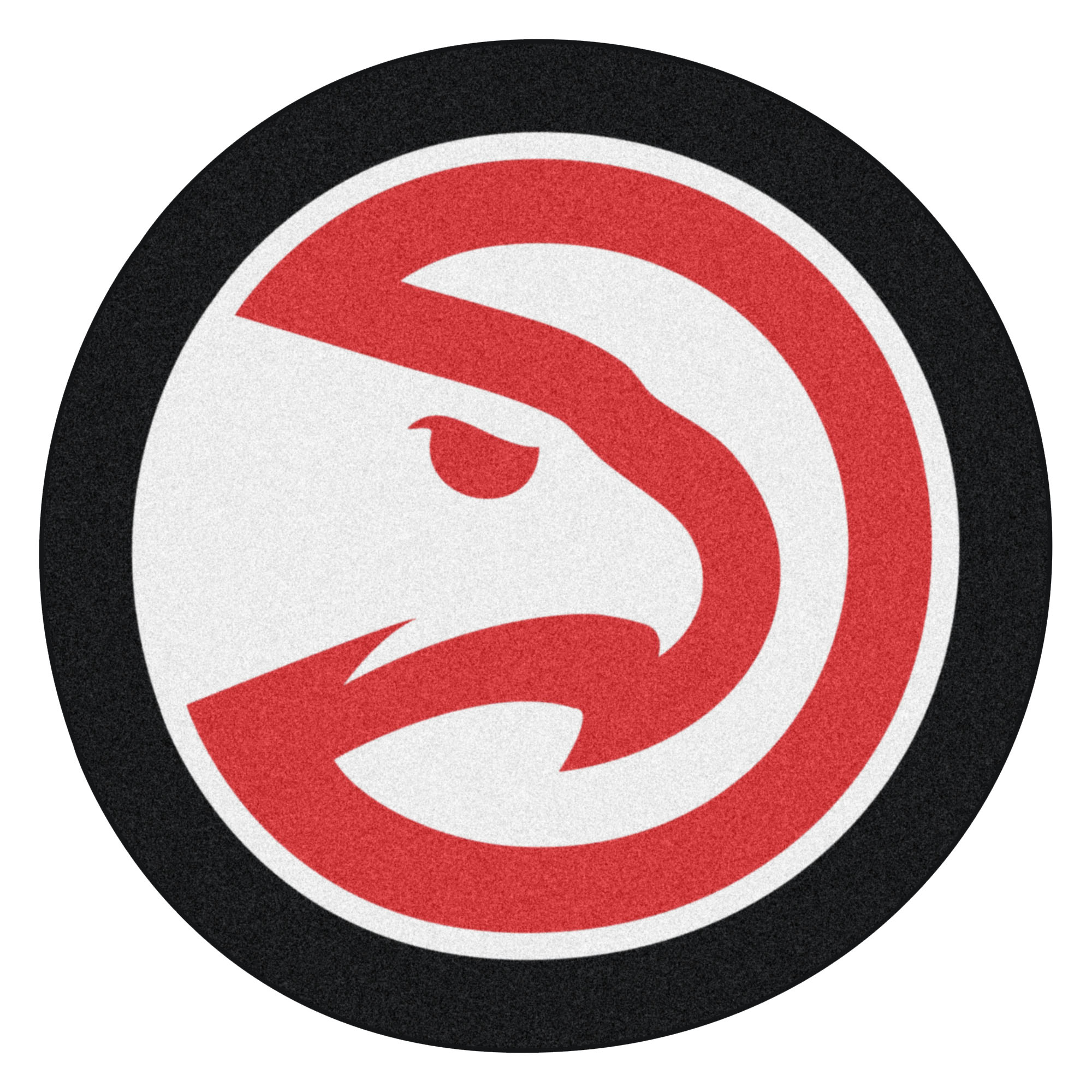 NBA Atlanta Hawks Mascot Novelty Logo Shaped Area Rug