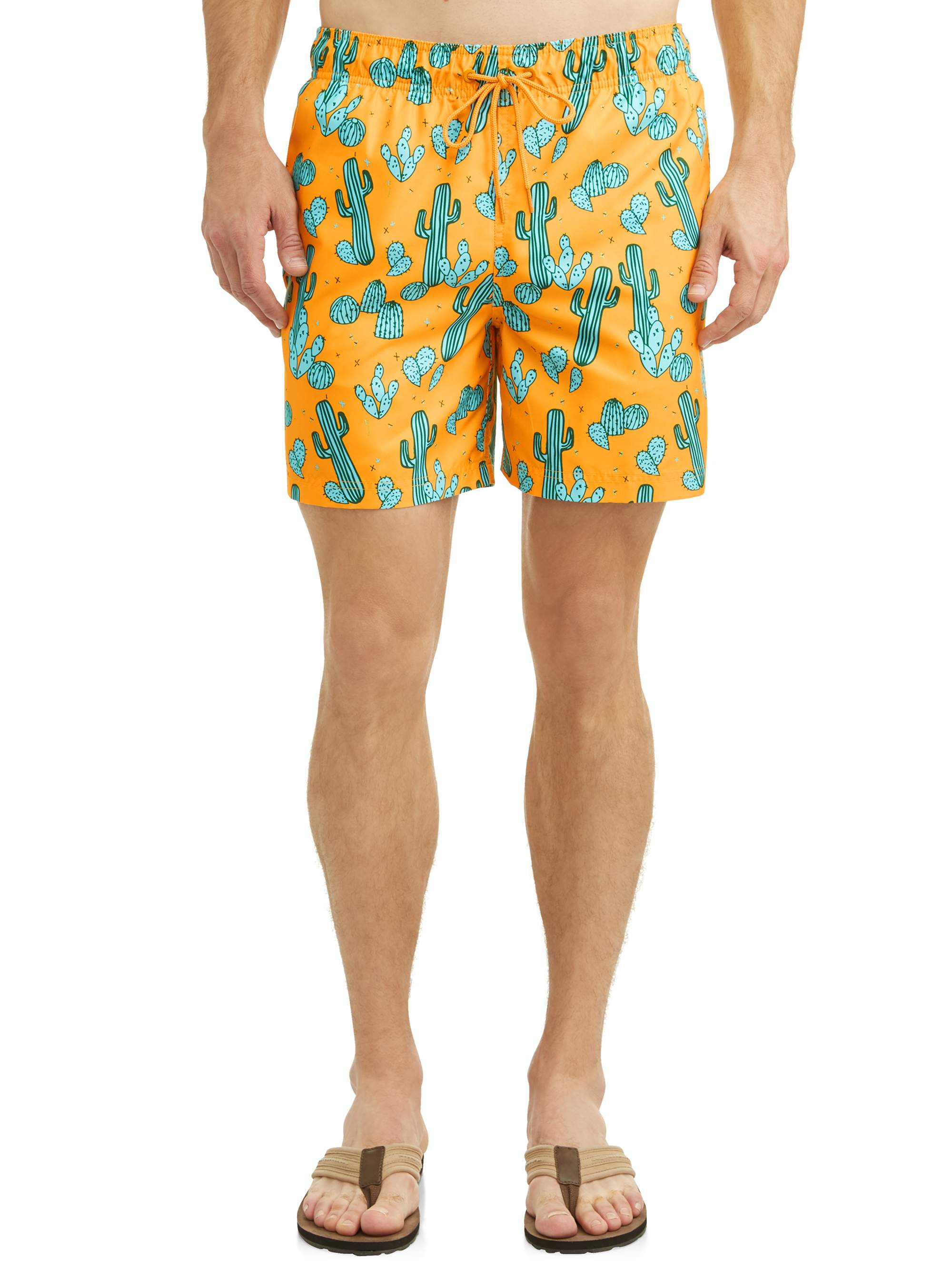 George Men's Novelty Eboard Swim Short, Up to Size 5XL