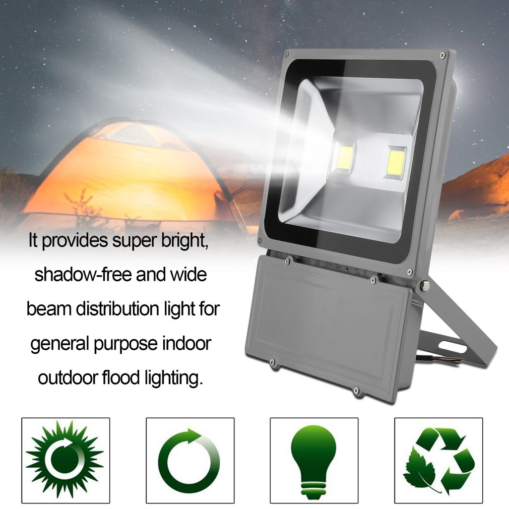 100W Outdoor Security LED Flood Light Waterproof Floodlight With Bracket